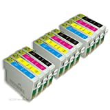 12 Moreinks Compatible Printer Ink Cartridges to replace Epson T0715 - Cyan, Magenta, Yellow, Black