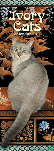 ivory-cats-slim-calendar-2017