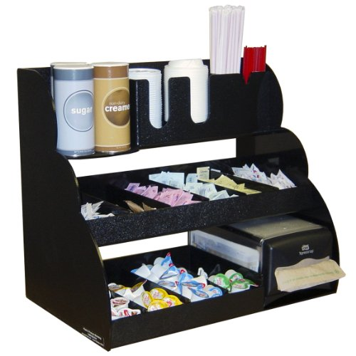 """Coffee Condiment Organizer 22""""W X 15""""D X 19""""H. Made In The Usa By Ppm."""