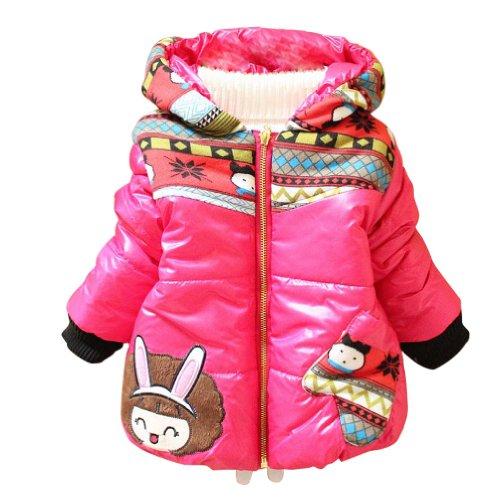 Little Hand Baby Girls' Cartoon Coats Floral Winter Hoodies front-957441