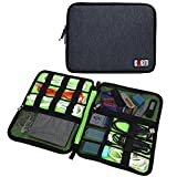 Universal Cable Organizer Electronics Accessories Case USB Drive Shuttle Case Organizer Items Like Nasal Aspirator, Digital Thermometer, Medicine Syringe, Nail Clippers, Medicine Spoon, Emergency Information Card, Brush and Comb, Emery Boards Fit Iphone 6 6plus 5/5s/5c, Iphone 4/4s, Ipod Touch, Samsung S2 S3 S4 S5 Note 3 Note 4 Note 2, Htc, Motorola, Lg, Sony Usb Cable Data Carry Case Bags/usb Cablecharge / Cable Organizer / Flash Disk/plug/headset /Organizer Accessories Bag Case (Black-large)