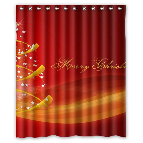Merry Christmas tree stars Shower Curtain