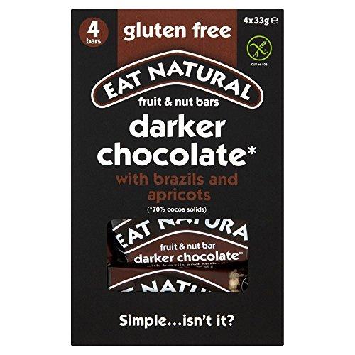 Eat Natural Dark Chocolate, Brazils & Apricots Bars (4X33G)
