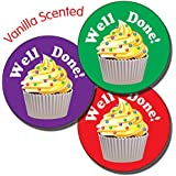 Primary Teaching Services Ltd X24 - 35 Well Done Mixed Colours 37mm Vanilla Scented Stickers