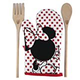 Disney Minnie Kitchen Set Oven Glove and Ladles