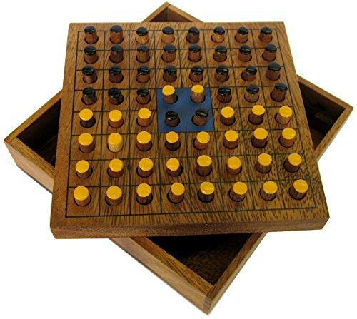 Wende den Stein – Strategiespiel für 2 Spieler – Brettspiel aus edlem Holz