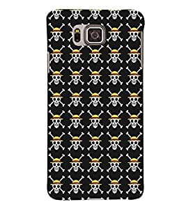 TOUCHNER (TN) Skull Pattern Back Case Cover for Samsung Galaxy Alpha G850