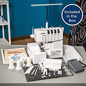 Brother R1634D 3 or 4 Thread Serger with Differential Feed, White (Certified Refurbished)
