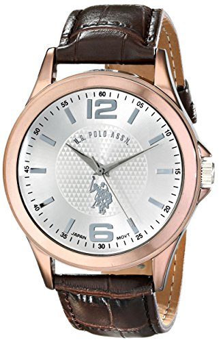U.S. Polo Assn. Classic Men'S Usc50198 Analog Display Analog Quartz Brown Watch