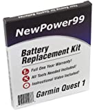 Garmin Quest 1 Battery Replacement Kit with Installation Video, Tools, and Extended Life Battery.