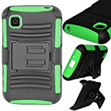 SOGA Hybrid Heavy Duty Cover Protector Case with Belt Clip Holster Kickstand for LG Optimus Dynamic 2 II L39C... by SoGa
