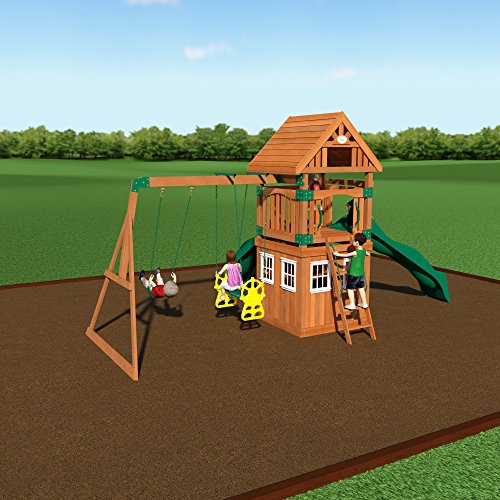 backyard discovery outing all cedar wood playset swing set assembly