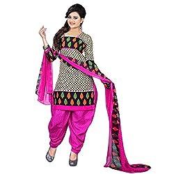 Aagaman Fashion Art Silk Unstitched Salwar Suit (AFSDHSK2008_Beige)