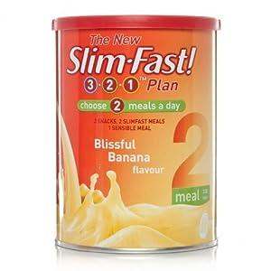 Slim Fast Blissful Banana Milkshake Powder 438g
