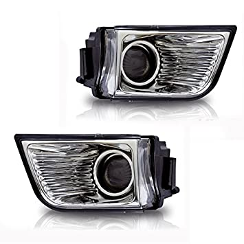 2x Clear OE Bumper Fog Light//Lamp+Switch for 05-08 Dodge Charger//Caliber//Sebring