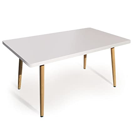 Intense Déco - Table rectangulaire scandinave Ines Blanc