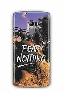 YuBingo Fear Nothing Designer Mobile Case Back Cover for Lenovo A7010