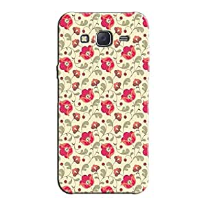 RED FLORAL BACK COVER FOR SAMSUNG J5