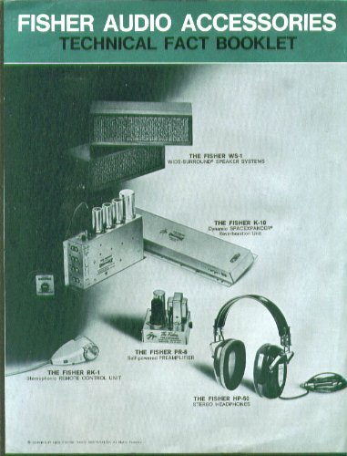 Fisher Audio Accessories Tech Facts Folder 1965