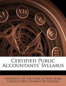 Certified Public Accountants' Syllabus: University of the State of New