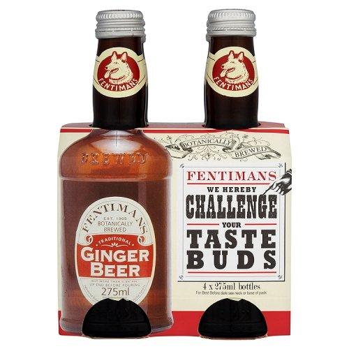Fentimans Ginger Beer 4 x 275 ml (Pack of 2, Total 8 Bottles)