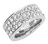 Guess-Damen-Ring-Messing-Glas-wei-UBR28520