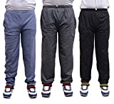 NATIONWIDE GARMENTS SOILD MULTICOLOR PACK OF 3 TRACK PANTS (SIZE-XL)