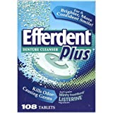 Efferdent Plus Denture Cleanser with Minty Fresh Ingredients: 108 Count