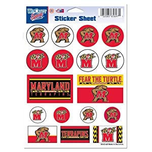 Buy Maryland Terrapins Official NCAA 5x7 Sticker Sheet by WinCraft