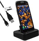 mumbi USB DUO Dock Samsung Galaxy S3 Dockingstation / Tischladestation mit EXTRA Akkuladefach / Galaxy S3 Neo Ladestation + USB Datenkabel