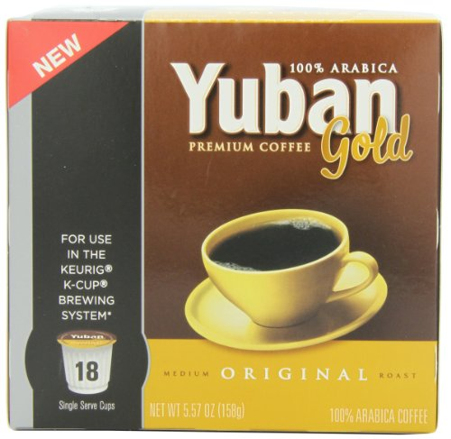 Yuban Gold Original K-Cup Packs - 18 count (Keurig Coffee Yuban compare prices)