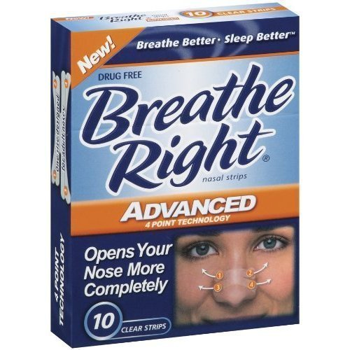 Breathe Right Advanced Strips Clear 60 Total