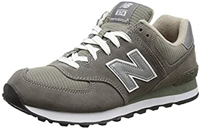 New Balance Men's ML574 Lifestyle Sneaker,Grey/Silver,6.5 EE