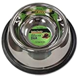 No-Tip Non-Skid Stainless Steel Dog Bowl Size: 32 Ounces