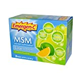 Alacer Emergen-C MSM Formula Fizzy Drink Mix Lite Citrus - 30 Packets