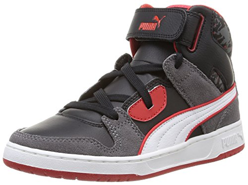 Puma Rebound Street Wcamo Jr Sneaker, Unisex - Bambino, Grigio (steel gray-black-white-high risk red 02), 39