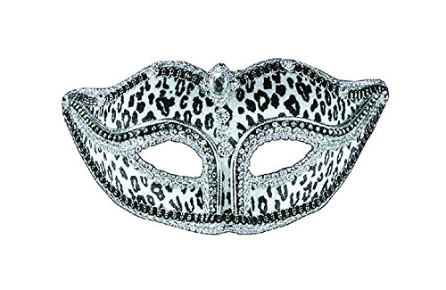 Forum Novelties Halloween Party Creepy Scary Costume Ven Mask Snow Leopard