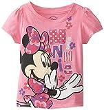Disney Little Girls' Minnie Mouse Floral Short-Sleeve T-Shirt