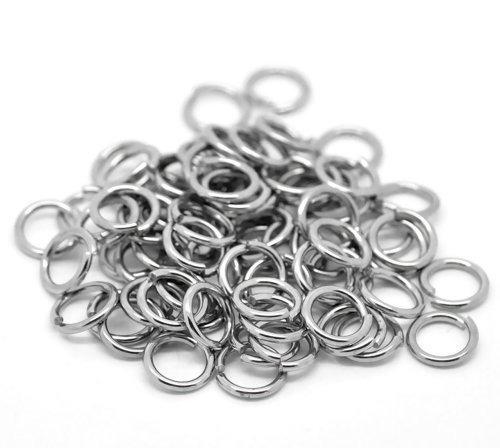 Housweety 200PCs Silver Tone Stainless Steel Open Jump Rings 10mmx1.4mm (Open Jump Rings compare prices)