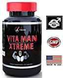 Vita Man Xtreme #1 Rated Testosterone Booster Formulation - 60 Capsules - Increase Performance, Stamina, Energy & Size ~ Compare to boostULTIMATE, Cost Less ★ 1 Month Supply