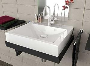 waschbecken aufsatzwaschbecken f r das badezimmer wc wei es designer handwaschbecken f r. Black Bedroom Furniture Sets. Home Design Ideas