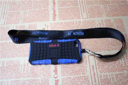 Great Price I Phone Case From Klickit for I Phone5,5s with Lanyard and Wrist Strap (blue)