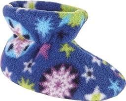 ACORN Easy Bootie Slipper,Snow Flakes,TM (6-12 Months M US Infant)