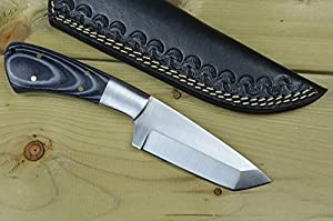 Coldland Knives | Custom Handmade Ball Bearing Steel Tanto Hunting Knife Micarta Handle WAD01