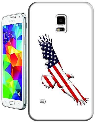Sangu The American Flag Eagle Fly Side Hard Tpu Samsung Galaxy S5 Case