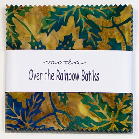 Moda OVER THE RAINBOW BATIKS BLUE Charm Pack 5
