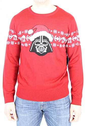 Star Wars Santa Hat Vader Adult Red Ugly Christmas Sweater