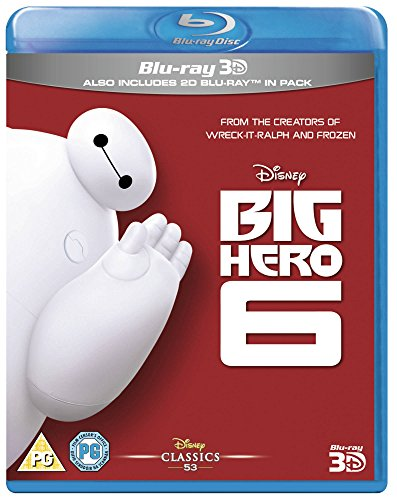 Big Hero 6 [Blu-Ray 3D + 2D] [Region Free] [UK Import]