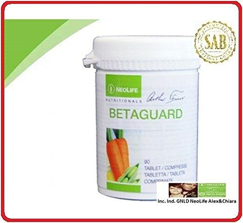 BETAGUARD (90 comp. Integratore dietetico di fattori antiossidanti. Miscela di nutrienti a supporto di varie funzioni dell'organismo. Una formula esclusiva di vitamine, minerali e carotenoidi accuratamente selezionati)