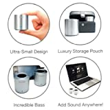 NEW Genuine Lifetrons Drumbass IIIe Rechargeable Metallic Stereo Speakers For IPOD IPHONE IPAD MP3 MP4 TABLETS SAMSUNG GALAXY SMARTPHONES - FG-8010STA-SIL-I